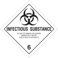 Revised Class 6 Label - Infectious Substances