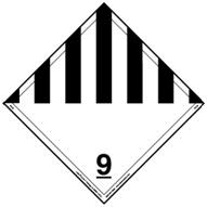 International Hazard Class 9 Placard