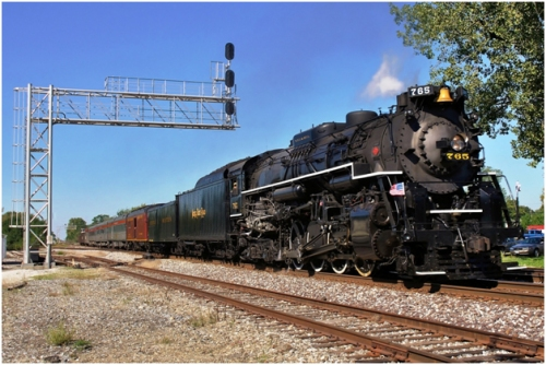 The FRA's new regulation mandating improvements to safety related training in the rail industry applies across a wide scope of operations, including not only large and small railroads and related contractors but also to tourist rail operations running on the national system, like this preserved Nickel Plate Road steam locomotive owned by the Fort Wayne Historical Society and operating over Norfolk Southern rails at Tolono, Illinois in 2011. (©9/2011 by Paul Burgess, used with permission)